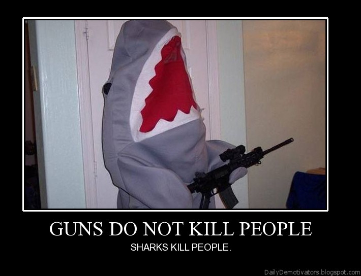 Guns do not kill people demotivational poster