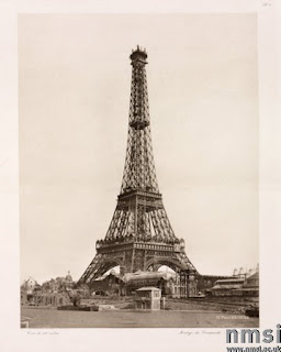 Picture Eiffel Tower on Erection Of The Upper Section  Eiffel Tower  Paris  26 December 1888