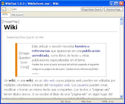WikiTaxi permite realizar búsquedas en Wikipedia