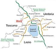Onano Map