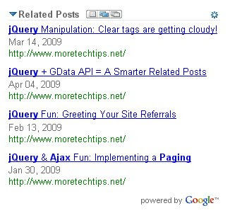 Related Posts Widget Powered by Google