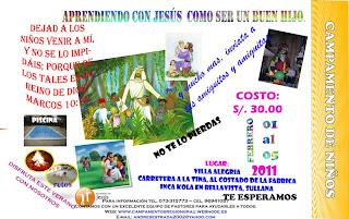 Estas Invitado al Campamento de Ni�os, Adolescentes y Jovenes 2011