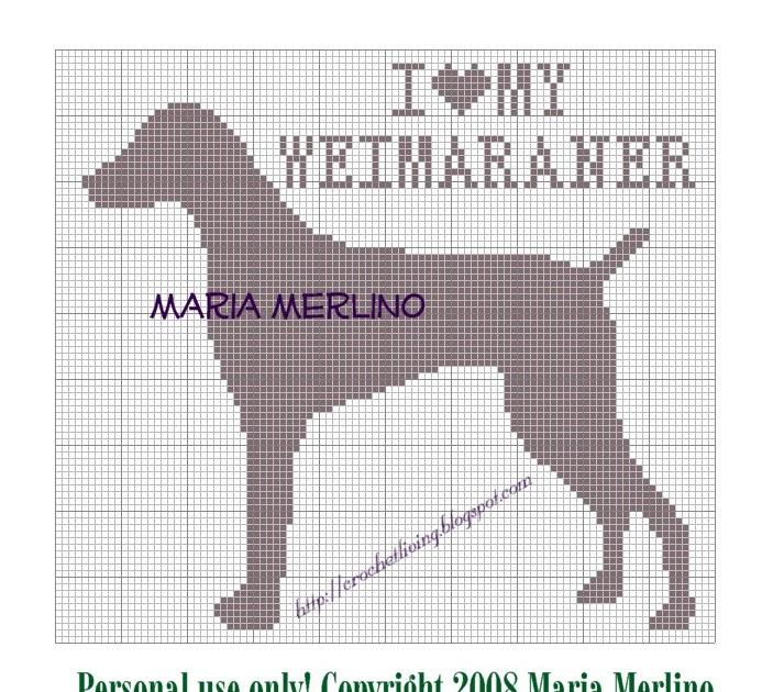 Crochet Living I Love My Weimaraner Crochet Chart Or Graph