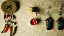 Pregadeiras, imans e brincos de Cerâmica