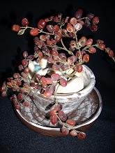 Vaso e Prato de Cerâmica