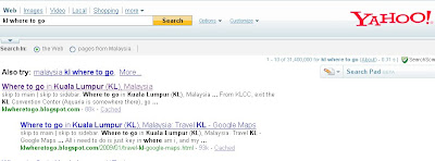 klwheretogo at yahoo search
