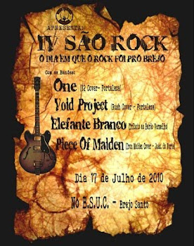 CARTAZ DO IV SAO ROCK
