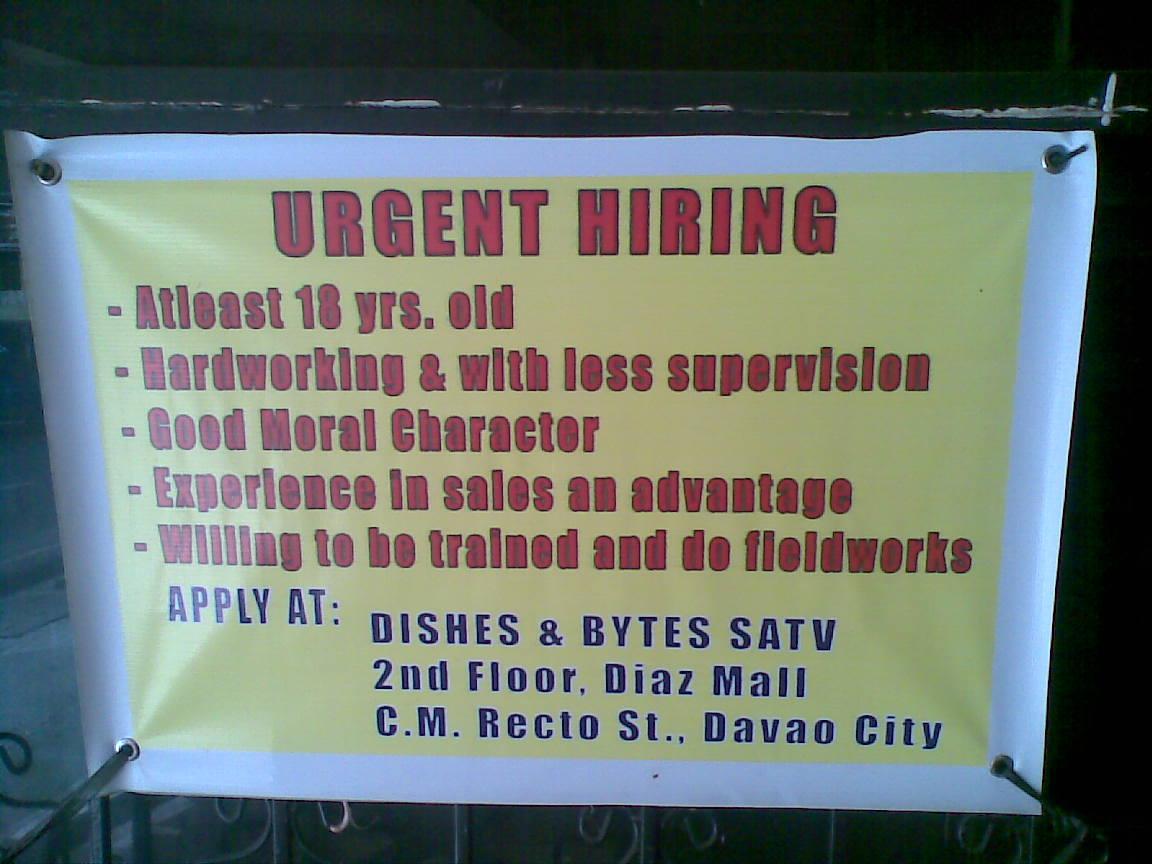 Many hiring jobs in Davao City available today, apply now. Jobs in Davao, Davao jobs, job openings Davao, Trabaho Davao, Opportunities in Davao, Work in Davao.5/5(4).