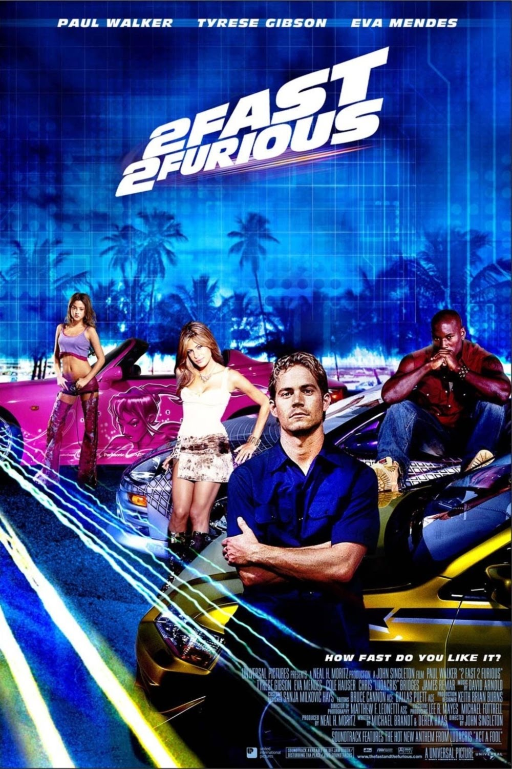 the movies database posters 2 fast 2 furious 2003. Black Bedroom Furniture Sets. Home Design Ideas