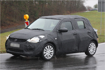 Uncamouflaged is the new Swift at the Geneva show in early 2010, market launch is likely to be in the summer of 2010.