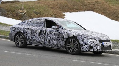 2012 Audi A7 new spy photos in Salzburg / Austria
