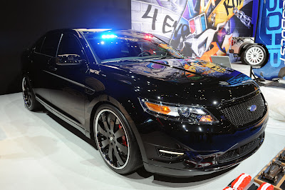 Live Ford Police Interceptor Stealth Concept at Sema Motor Show 2010