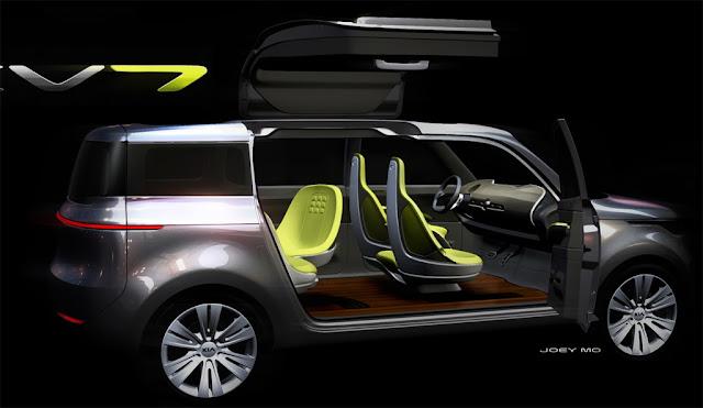 Kia KV7 Concept Gullwing 2 Car reviews:2011 Kia KV7 Concept: A Crossover with gull wing doors   Detroit 2011