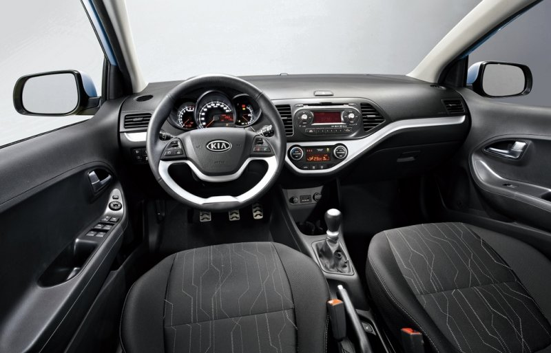 Kia showed the interior of the