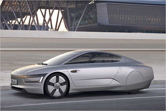 New Volkswagen XL1 DieselElectric Hybrid Concept with interior