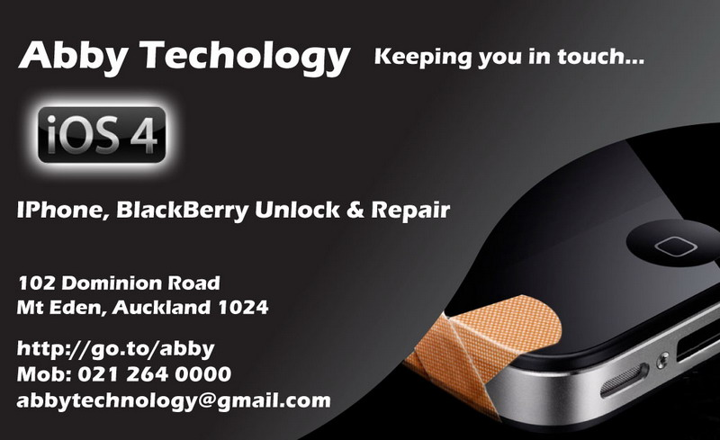 Professional apple iphone repair and unlock abby iphone for Phone repair business card