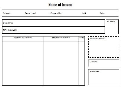 school lesson plan template. Black Bedroom Furniture Sets. Home Design Ideas