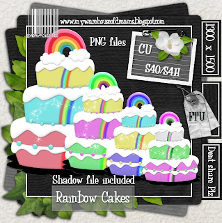 http://mywarehouseofdreams.blogspot.com/2009/10/rainbow-cakesother-freebie.html