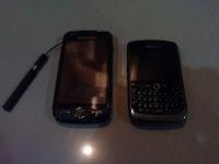 Samsung Omnia II dengan BlackBerry Javelin