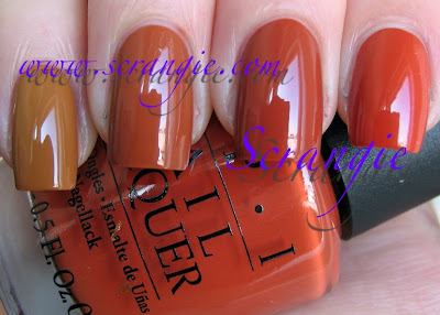 Opi A Good Mandarin Is Hard To Find Vs Hot And Spicy Scrangie: OPI Hong Kon...