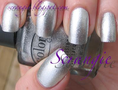 zilveren acryl nagels