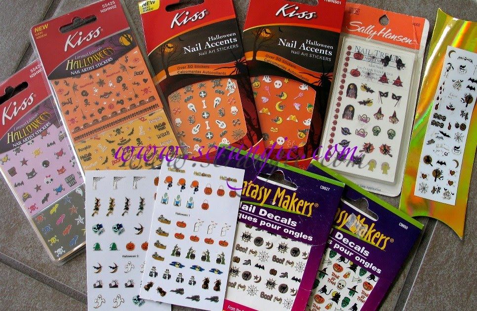 Scrangie: New Kiss Halloween Nail Decals and some of my decal collection