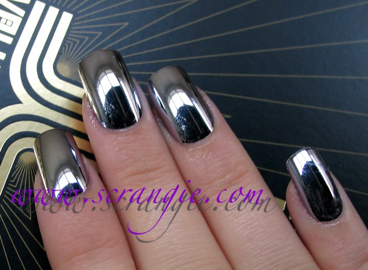 Scrangie: My Vacation Mani - Nail Bliss Chrome Metallic Nails