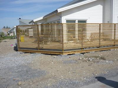 Lundins nya hus: Dags för staket.