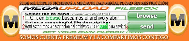 Subir ficheros a Megaupload
