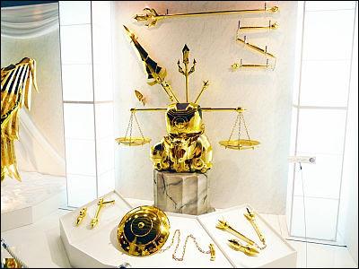 Saint seiya armaduras doradas tamaño real