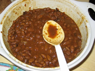 Beans go well with cornbread
