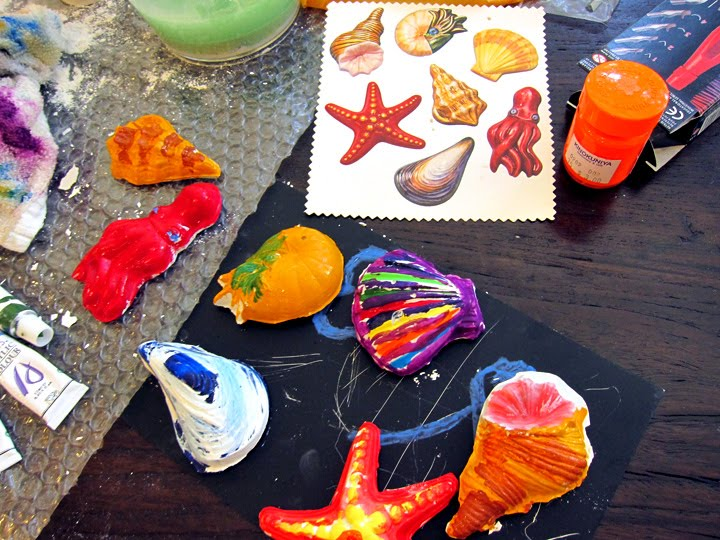 The arts and crafts experiment plaster of paris sea for Paris themed crafts for kids