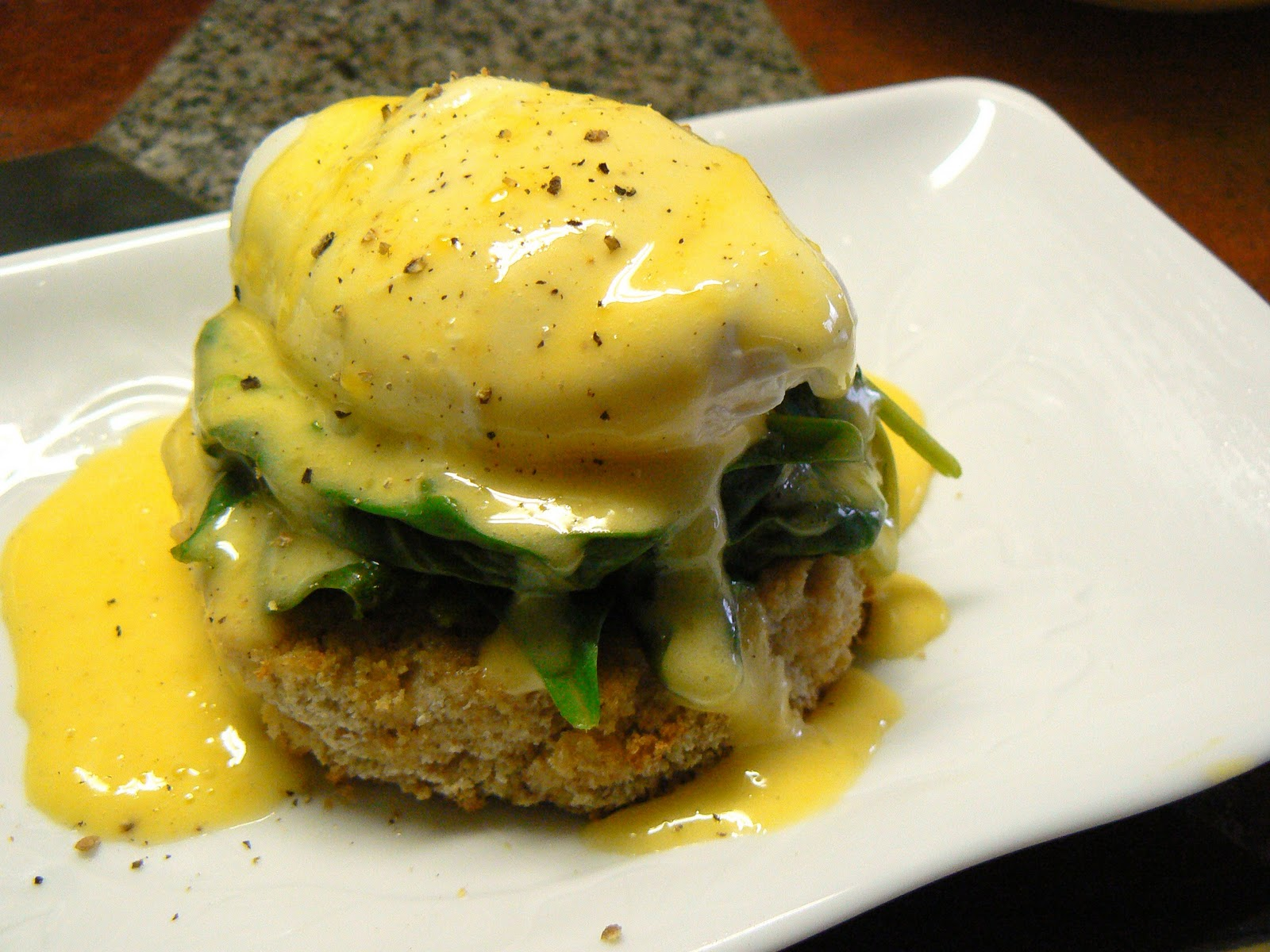 Lemony Eggs Florentine Recipe — Dishmaps