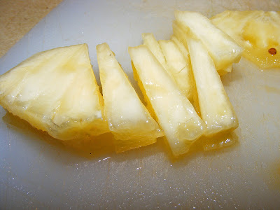 chopped pineapple