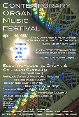 Contemporary Organ Music Festival at Eastman