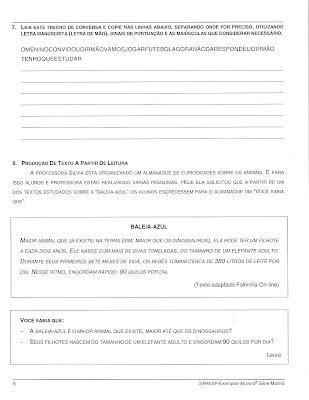 Digitalizar0004 Prova de Português SARESP 2007. para crianças
