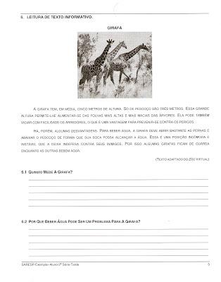 Digitalizar0006 Prova de Português SARESP 2007. para crianças