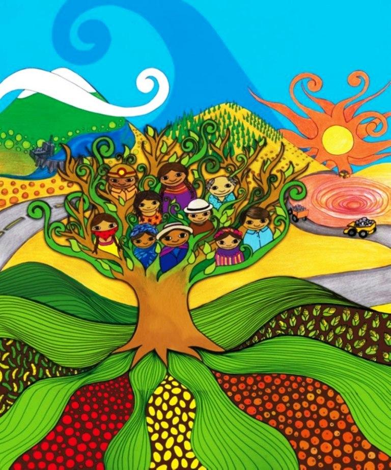 Caricaturas De Ninos Con La Naturaleza