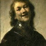 Rembrandt Laughing. Rembrandt van Rijn.