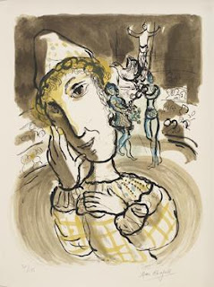 Circus with the Yellow Clown by Marc Chagall