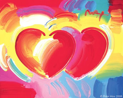 Peter Max. Two Hearts. © Peter Max 2008.