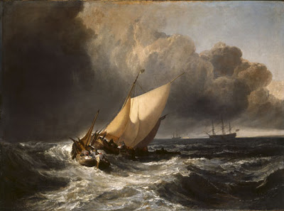 JMW Turner. Dutch Boats in a Gale. 1801.