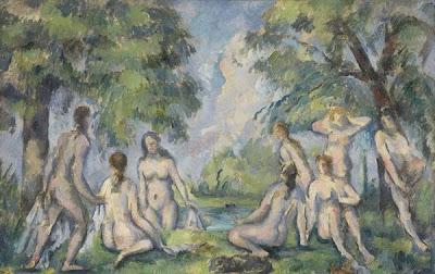 Paul Cézanne. The Bathers, c. 1890
