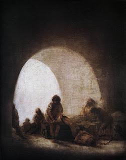 Francisco Goya. A Prison Scene. 1810-1814.