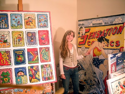 Leslie Lew in her studio. Park West Gallery.