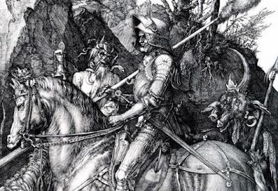 Albrecht Dürer. Knight, Death, and the Devil (1513).
