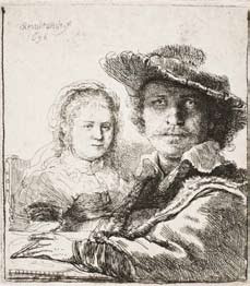 Rembrandt van Rijn, Self-Portrait with Saskia (1636).