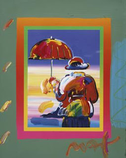 Umbrella Man on Blends. Peter Max.