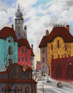 Red Sunset-Gdansk. Anatole Krasnyansky.