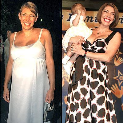 Cynthia Klitbo embarazada y con hija
